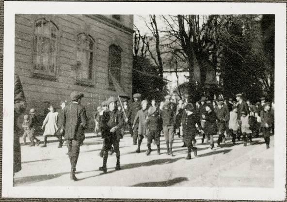 Szene vom Landesstreik.