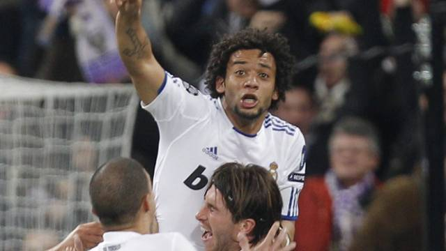 Real Madrids Marcelo eröffnete das Skore gegen Lyon