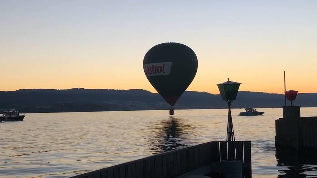 Ob dieser Heissluftballon auch schwimmen kann?