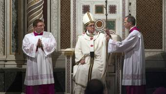Papst Franziskus bei der Zeremonie in der Lateran-Basilika