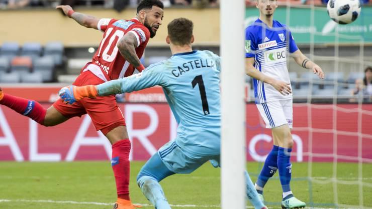 Matchwinner mit zwei Toren: Carlitos erzielt in Lausanne das 2:0 für Sion