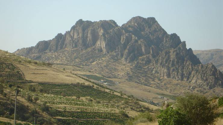 Raue Landschaft: Berge im irakischen Kurdistan.