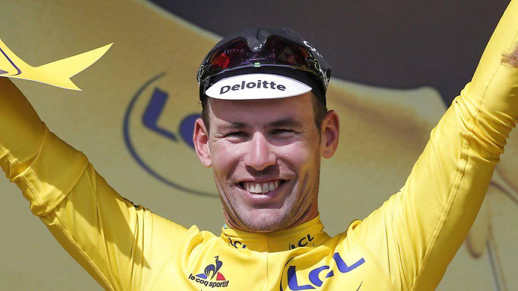 Erstmals im gelben Leadertrikot der Tour de France: der Brite Mark Cavendish