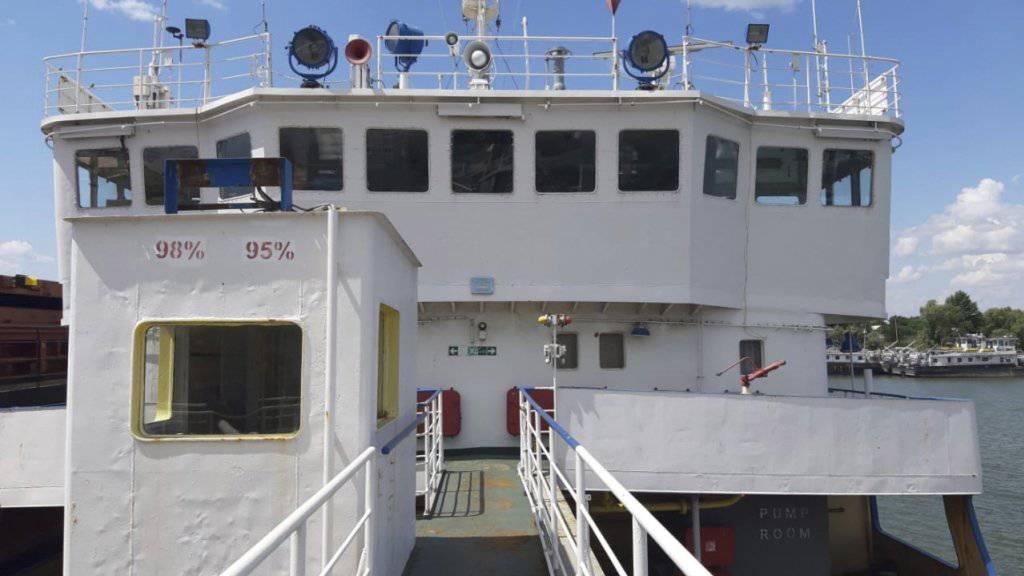 """Der russische Tanker """"Nika Spirit"""" war vor einer Woche von den ukrainischen Behörden an der Donaumündung gestoppt worden. Ein Gericht in Odessa ordnete am Dienstag die Beschlagnahme des Schiffes an. (Archiv)"""