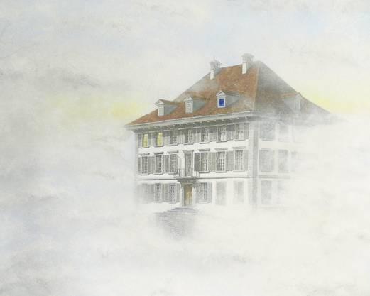 … und gemalt vom Künstler Fritz Huser.