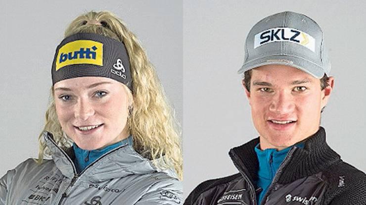Amy Baserga und Niklas Hartweg: Die zwei Aushängeschilder aus dem Kanton Schwyz gehören auch an der Heim-WM vom 23. Januar bis 2. Februar in Lenzerheide zu den Hoffnungsträgern. (Bild: ZVG)