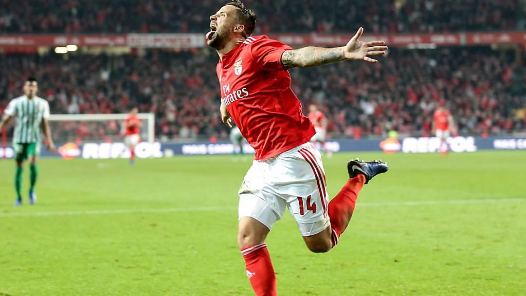 Haris Seferovic will in Portugal nach der Wiederaufnahme der Meisterschaft für Benfica wieder Tore schiessen