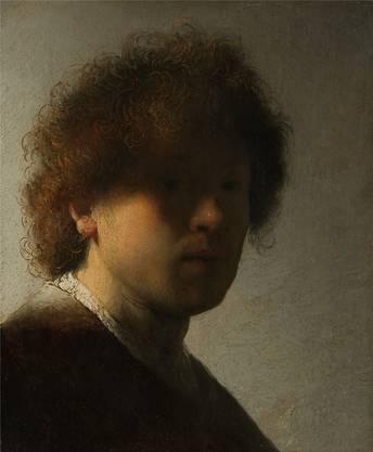 Zum 350. Todestag zu sehen: Rembrandt, «Selbstbildnis» von 1628.