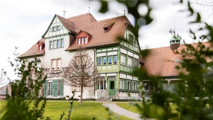 Ist seit 1990 ein Museum: die Villa Langmatt an der Römerstrasse in Baden.Bild: Severin Bigler (5. März 2019)