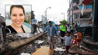 Dominique Baumann hat das Erdbeben in Ecuador vor Ort miterlebt.