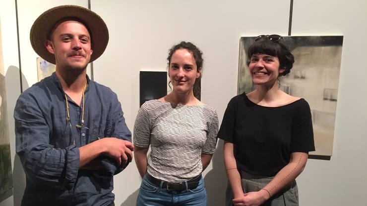 Die Förderpreise der JKON 2018 gingen (von links) an Aramis Navarro, Yasmin Mattich und Alizé Rose-May Monod.