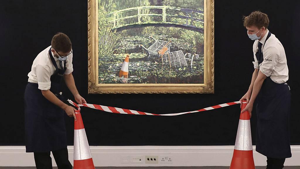 Ein «Banksy-Monet» ist in London für umgerechnet 9 Millionen Franken versteigert worden. (Archivbild)