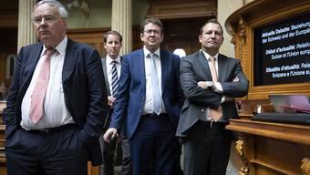 SVP-Vertreter standen während der aktuellen EU-Debatte im Nationalrat Schlange, um Fragen zu stellen. Die Antworten befriedigten sie wohl nur selten.