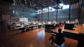 Der Badener Einwohnerrat tagt seit Ausbruch der Pandemie in grossen Sälen wie dem Kongresszentrum Trafo.