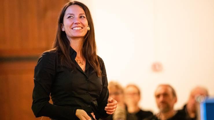 Miriam Gantert fasziniert das Publikum.