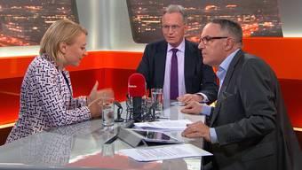 FDP-Nationalrat Hans-Ulrich Bigler lässt sich im Talk Täglich kein Versprechen abluchsen, Rentenalter 67 nicht vor 2028 auf die politische Agenda zu bringen.