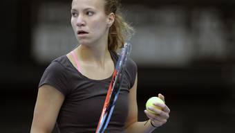 Die Schweizerin Viktorija Golubic trauert ihren verpassten Chancen nach