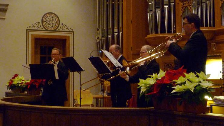 Das Quartetto Volpino in der Zwinglikirche Grenchen.  tru