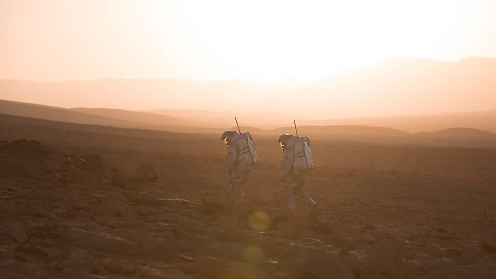In der Wüste Negev in Israel simulieren Analog-Astronautinnen und -Astronauten Spaziergänge auf dem Mars. (Pressebild)
