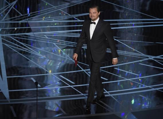 Leonardo di Caprio präsentierte die Nominationen für die beste Hauptdarstellerin.