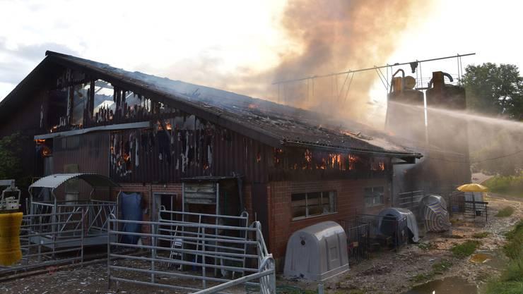 Der Brand verursachte einen Schaden von mehreren 100'000 Franken.