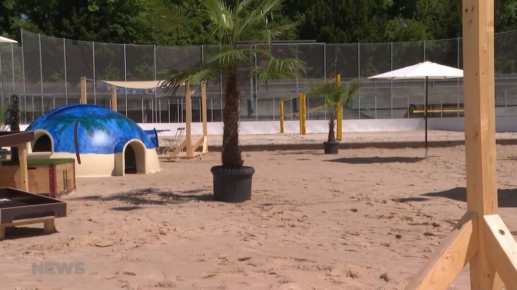 Sanierung Freibad «Weyerli»: Besucher können diesen Sommer Alternativangebot «Oase Weyerli» geniessen