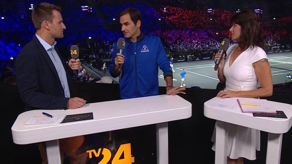 Roger Federer war live bei uns im Studio!