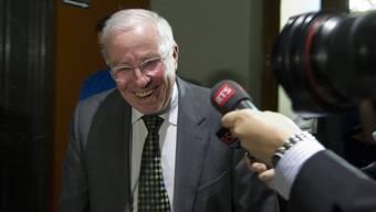 Christoph Blocher nach der Anhörung