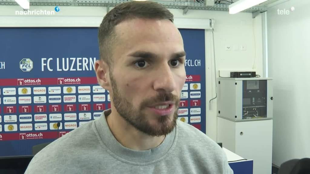 FCL-Stürmer Dejan Sorgic mit Ladehemmungen vor Cupspiel