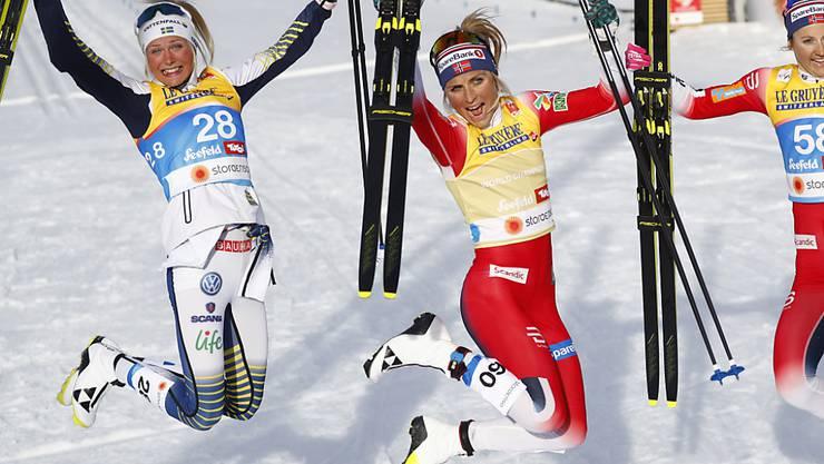 Frida Karlsson (ganz links) war diesmal die Schnellste. (Archivaufnahme)