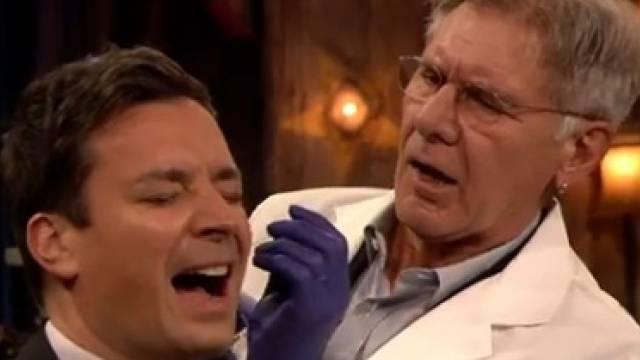 Jimmy Fallon (l) und Harrison Ford (Screenshot)