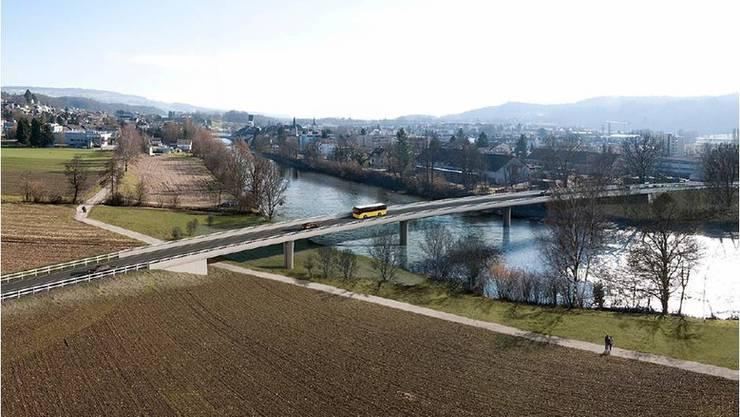 Fotomontage der Umfahrung Mellingen