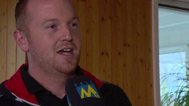 Kämpferisch: Rico Peter im Interview mit Tele M1 zuhause in Kölliken. (3.3.2016)