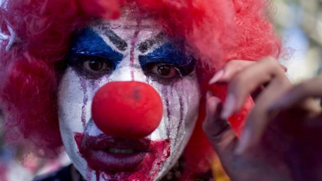 Horror-Clowns: Täter, die sich maskieren. (Symbolbild)