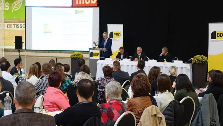 Die Delegiertenversammlung der BDP Schweiz im Velodrome