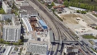 Nördlich vom Bahnhof Bern-Wankdorf entsteht das neue Wankdorf City