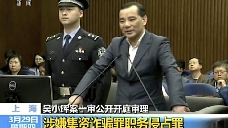 Der ehemalige Chef des chinesischen Versicherungsriesen Anbang, Wu Xiaohui, ist zu einer langen Gefängnisstrafe verurteilt worden. (Archivbild)