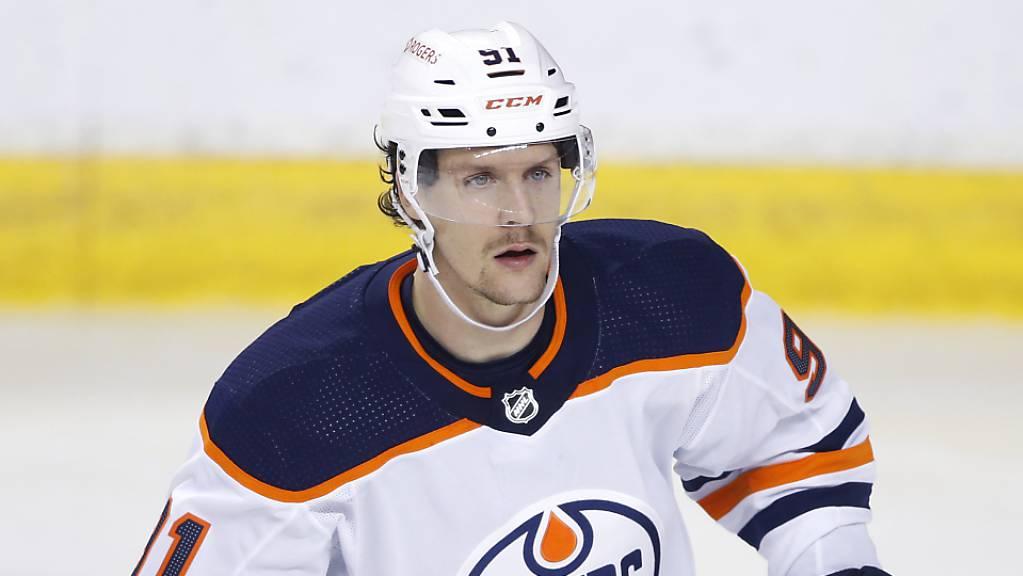 In 95 NHL-Spielen mit den Edmonton Oilers realisierte Gaëtan Haas 7 Tore und 6 Assists