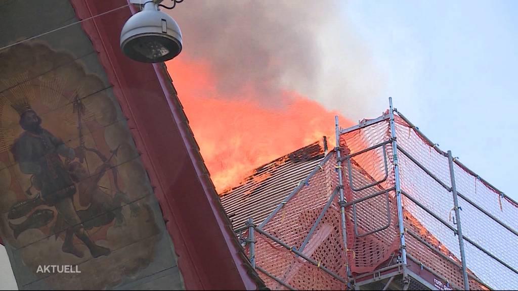 Brand in der Aarauer Altstadt: Auf der Suche nach der Ursache