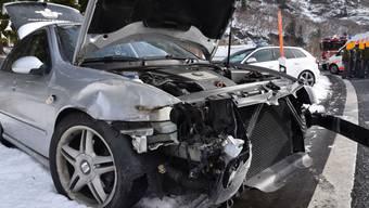 Bei einem Unfall auf der A13 in Mesocco GR ist eine Person verletzt worden. Der Unfallverursacher geriet in einer Kurve ins Schleudern.