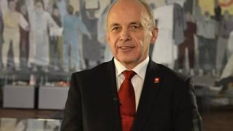 Bundespräsident Ueli Maurer wünscht den Schweizerinnen und Schweizern Glück