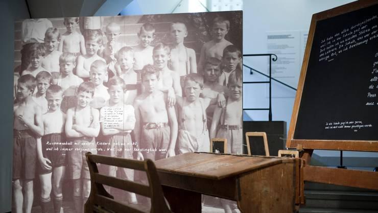 Aufnahme von einer Sonderausstellung zu den Verdingkindern aus dem Jahr 2012.