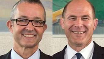 Die beiden neuen Thomas Weber (li.) und Anton Lauber übernehmen die frei gewordenen Departemente.