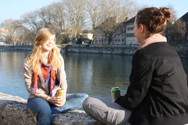 Ein beliebter Outdoor-Sitzplatz ist das Aaremürli