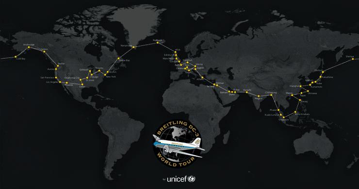 Karte der Flugroute