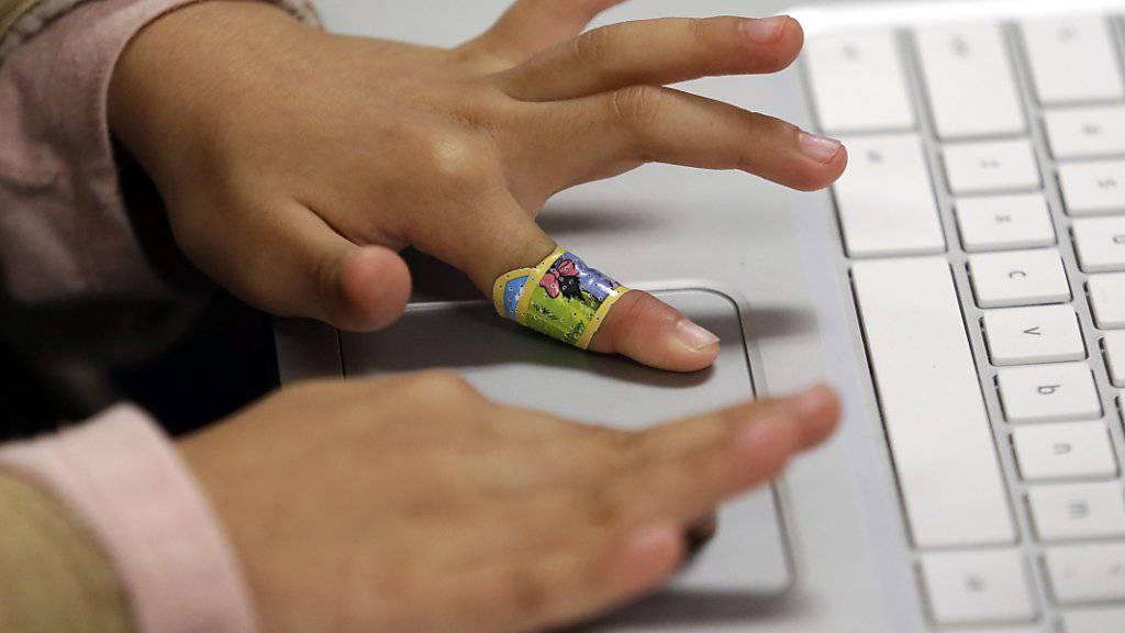 Kinderhände an der Tastatur: Fachleute plädieren dafür, in der Schule spielerisch Grundlagen in Informatik zu vermitteln.