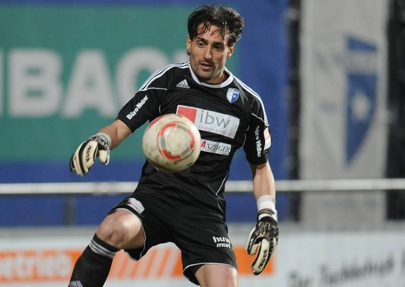 Wohlens neuer Goalie Giovanni Proietti in Aktion.