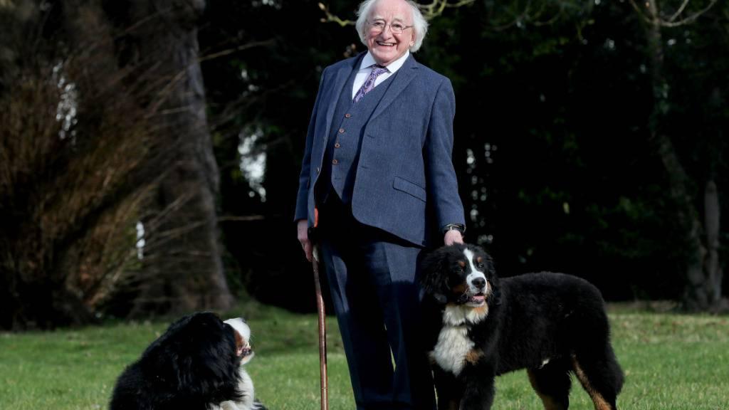ARCHIV - Michael D. Higgins, Präsident von Irland. Foto: Tony Maxwell/Aras an Uachtarain/dpa - ACHTUNG: Nur zur redaktionellen Verwendung und nur mit vollständiger Nennung des vorstehenden Credits