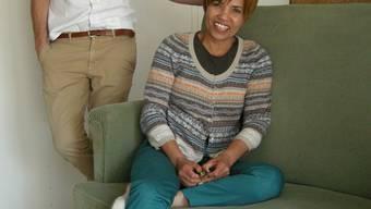 Leonilde Egger eröffnet bald «bei Nilde». Gestalter Urs Stampfli hilft bei der Einrichtung des Lokals.uby