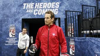 Der Schweizer Nationaltrainer Patrick Fischer an der WM in Dänemark
